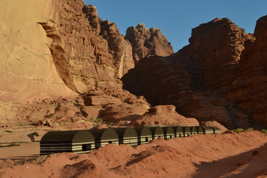 Our campsite in Wadi Rum