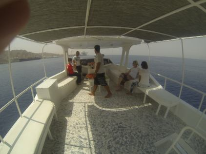 On a diving boat near Aqaba