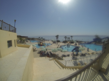 We got a day-pass at a nice Dead Sea resort