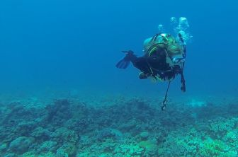 Me on my fourth-ever dive in the Red Sea