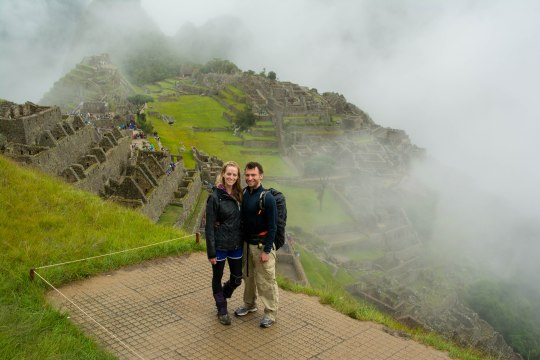 Chris and me at Machu Picchu
