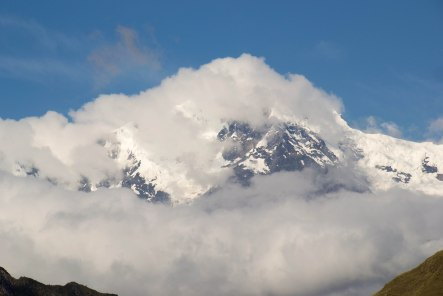 Andes mountain from the Inca Trail