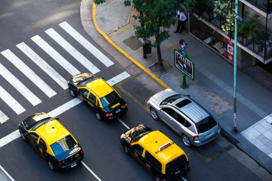 Traffic in the streets of Recoleta