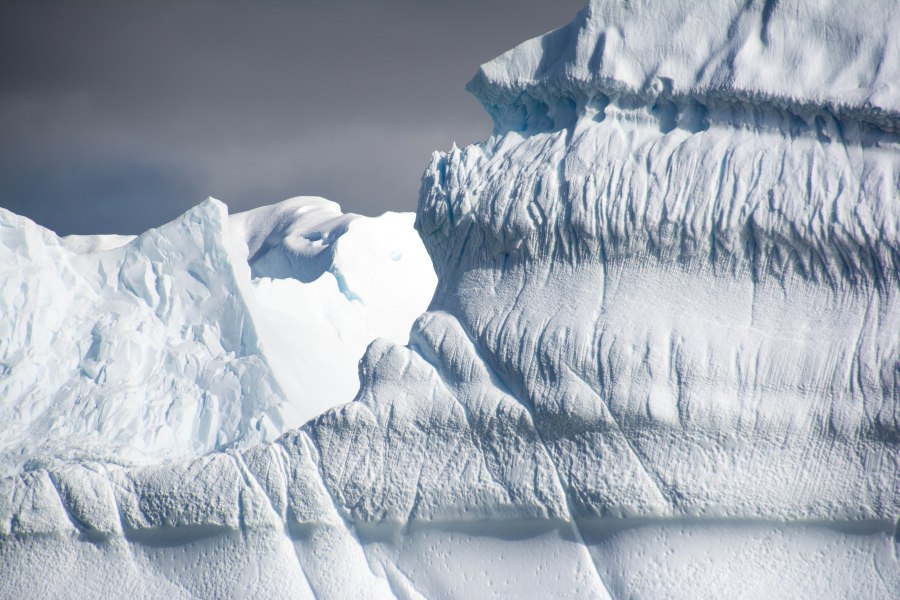 Close-up of an iceberg. The patterns and sheer size of these amazed me.