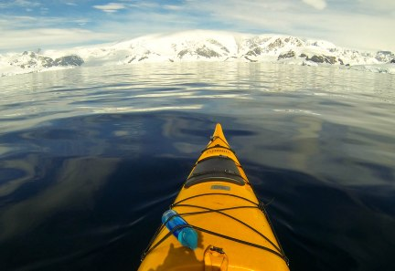 Kayaking in Wilhelmina Bay
