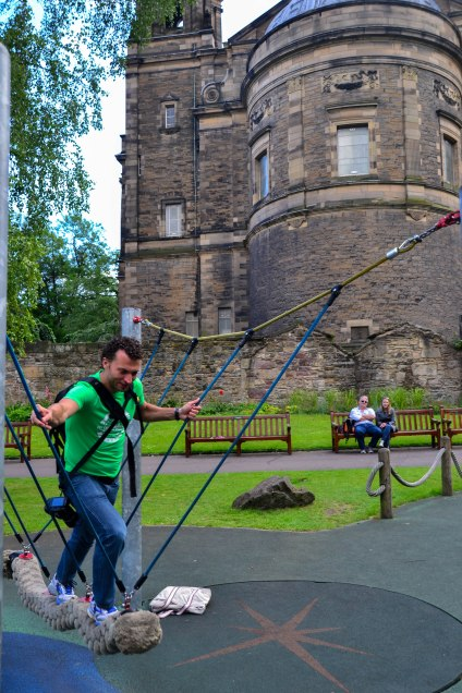Chris and I share a love of playgrounds despite being WAY too old for them.