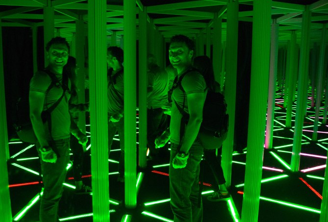The mirror maze at Camera Obscura