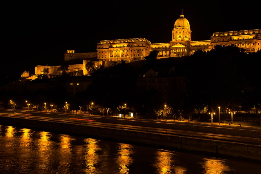 Buda lit up at night