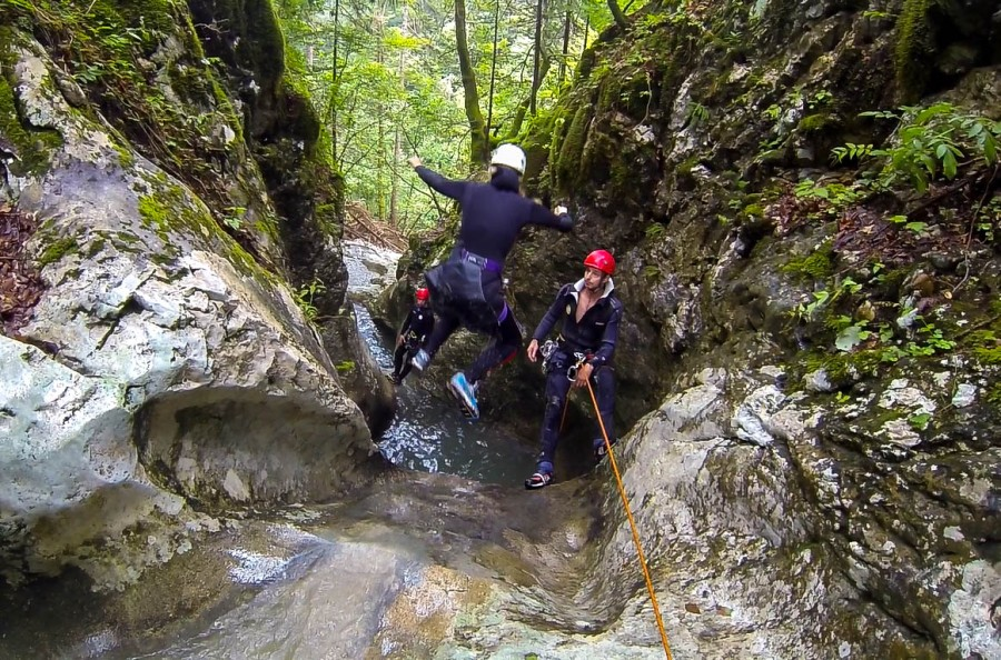 Canyoning in the Slovenian Alps
